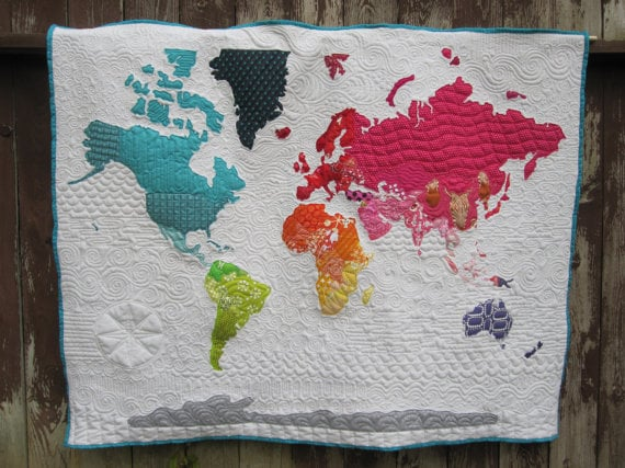 World Map Quilt | Middle East Map | POPSUGAR Middle East Photo 9 on