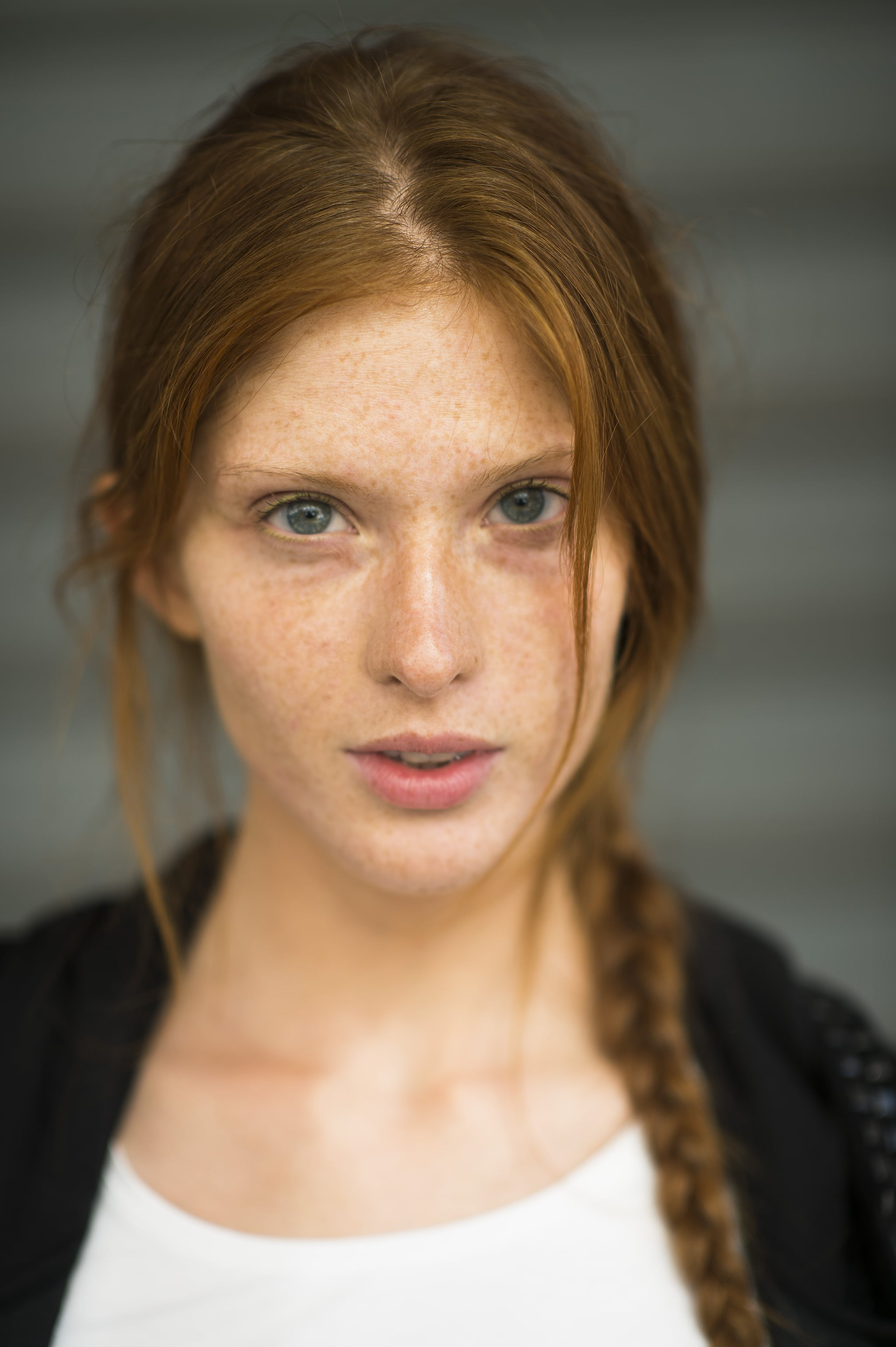 This woman's beautiful red hair looked gorgeous braided into a pretty plait.  Source: Le 21ème   Adam Katz Sinding