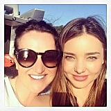 "Miranda shared a sweet moment with her mom, Therese Kerr, writing, ""Fun in the sun with Mum!"" Source: Instagram user mirandakerr"