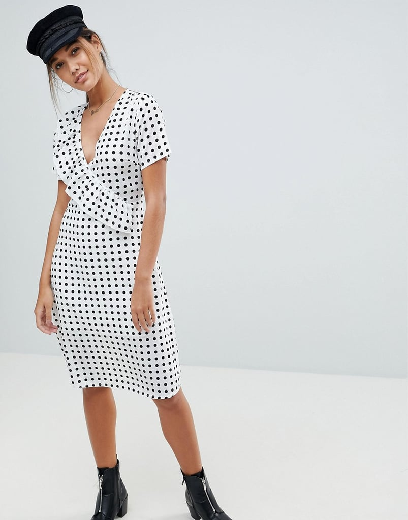 Missguided Polka Dot Midi Dress