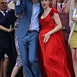 Rachel McAdams and her costar Domhnall Gleeson were spotted on the set of About Time in the UK.