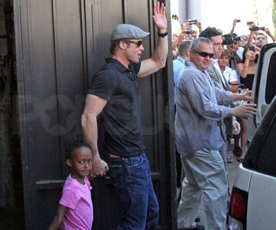 Slide Picture of Brad Pitt WIth Zahara in LA