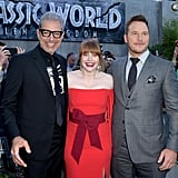 Pictured: Jeff Goldblum, Bryce Dallas Howard, and Chris Pratt