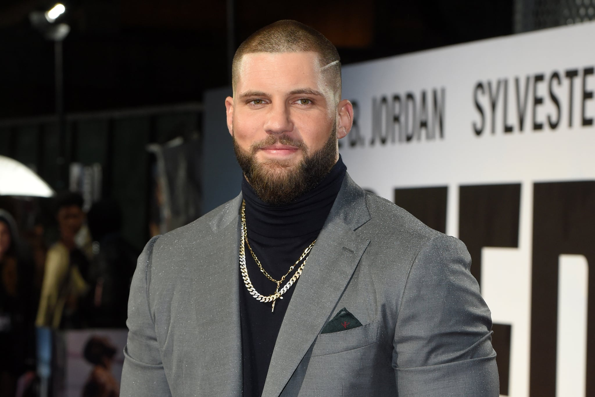 Romanian actor Florian Munteanu poses upon arrival to attend the European Premiere of the film