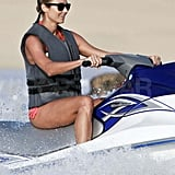 Stacy Keibler jet skiing in Mexico.