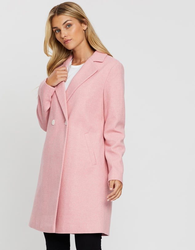 Dorothy Perkins Twill Double-Breasted Coat ($113.97)