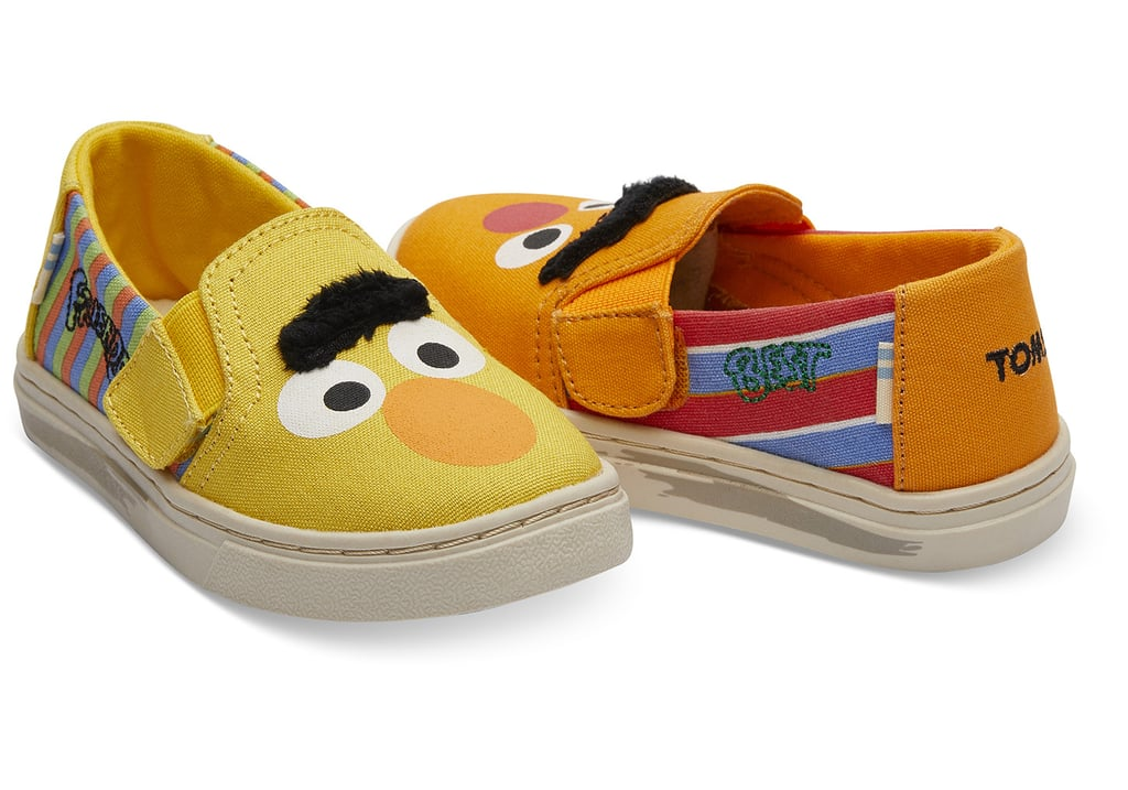bba7fc9b9df Sesame Street X TOMS Bert And Ernie Face Tiny TOMS Luca Slip-Ons ...