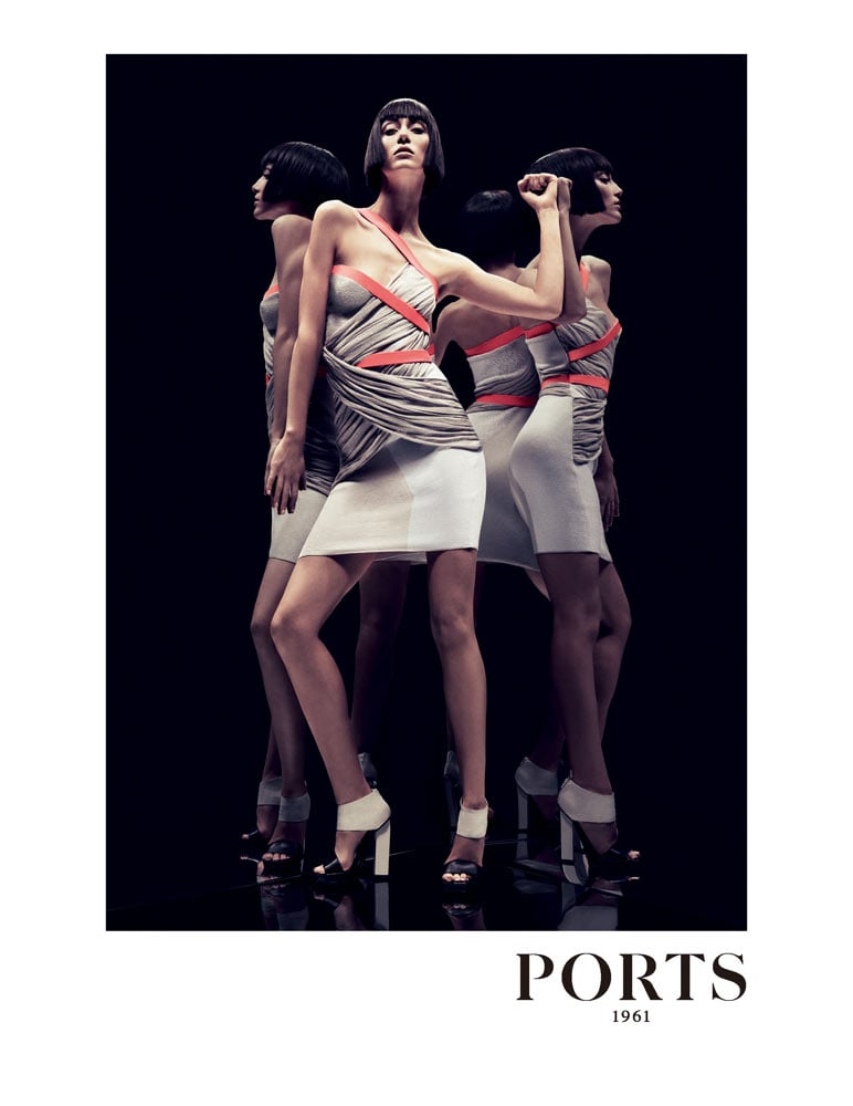 Alana Zimmer starred as the face of Ports 1961′s Spring ad, shot by Inez van Lamsweerde and Vinoodh Matadin.