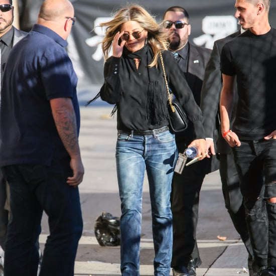 Jennifer Aniston Wearing Bootcut Jeans
