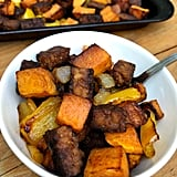 Maple-Ginger Roasted Tempeh, Sweet Potato, Pepper, and Onion