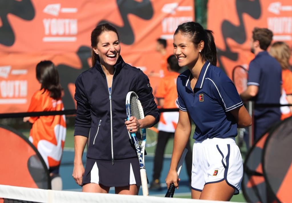 Kate Middleton Plays a Game of Tennis With Emma Raducanu