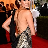 The back of Nina Dobrev's Donna Karan Atelier dress.