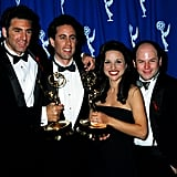1993 — Michael Richards, Jerry Seinfeld, Julia Louis-Dreyfus, and Jason Alexander