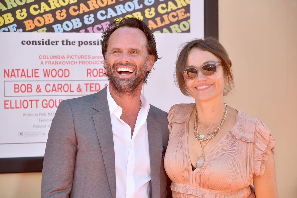 Walton Goggins and Nadia Conners at the Once Upon a Time in Hollywood LA premiere.