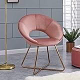 Contemporary Modern Velvet Chair