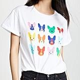Etre Cecile Dog Grid Oversize T-Shirt