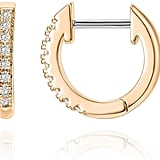 PAVOI 14K Rose Gold Plated Huggie Earrings