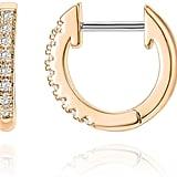 Pavoi 14K Rose Gold Plated Huggie Earrings