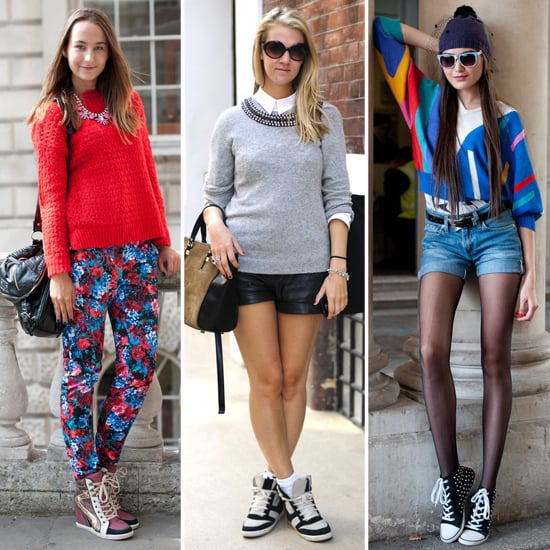 Shop London Fashion Week Street Style Pumped-Up Trainers
