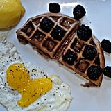 Lemon Blackberry Waffles