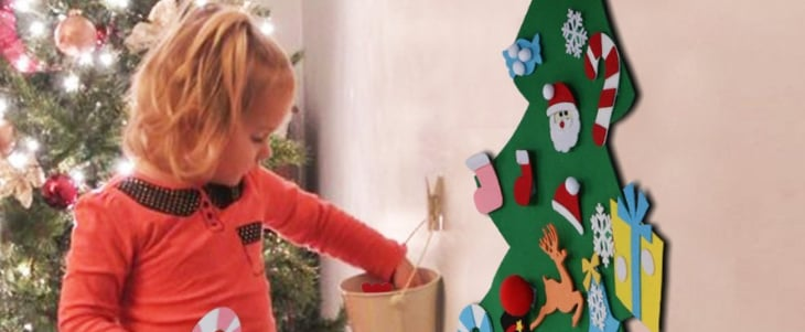The Best Felt Christmas Trees For Kids to Decorate