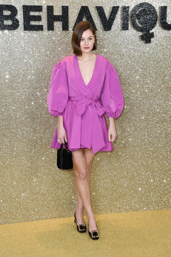 Emma Corrin Wears a Fuchsia Minidress