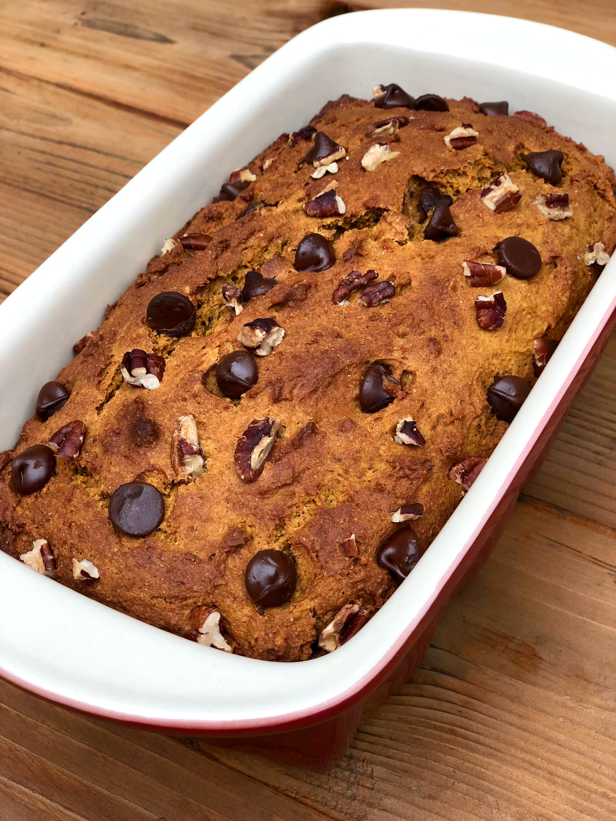 Skip the High-Cal PSL, and Get Your Fall Fix With Protein-Packed Chocolate Chip Pumpkin Bread