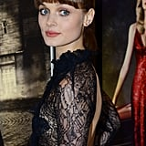 Bella Heathcote arrived in London for the Dark Shadows premiere.
