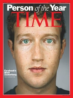 Mark Zuckerberg Named Time Magazine's Person of the Year