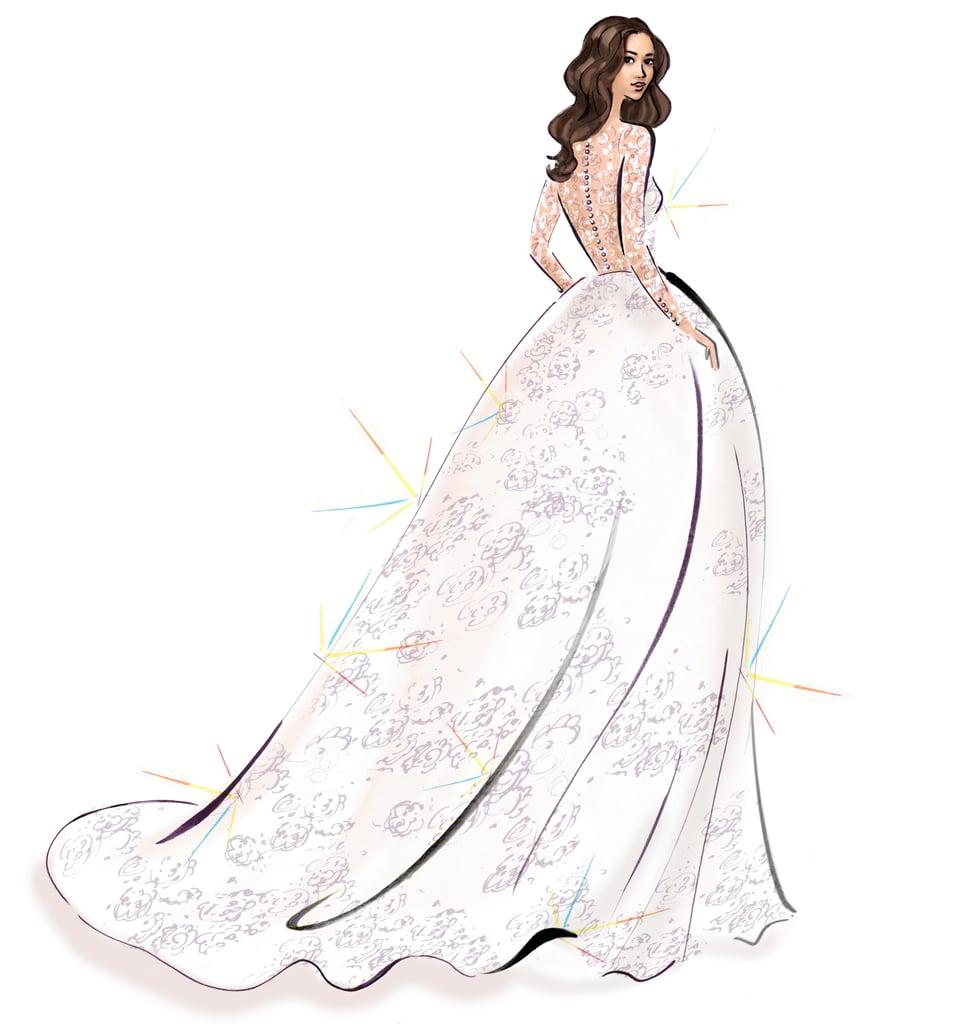 Meghan Markle\'s Wedding Dress Sketches | POPSUGAR Fashion Middle East