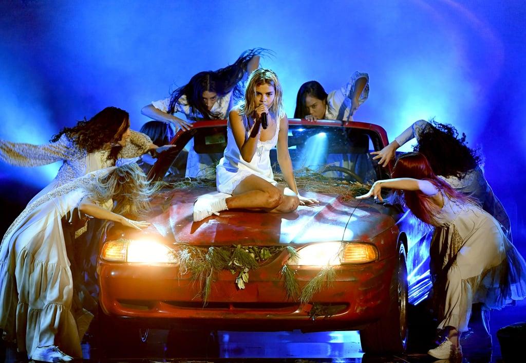 Selena Gomez's American Music Awards Performance Dress 2017