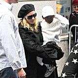 Madonna and David Keep Their Lids On