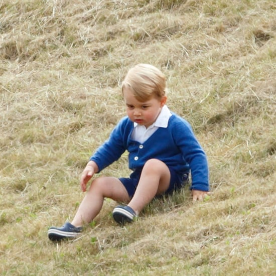 Prince George Planting Trees With Prince Charles