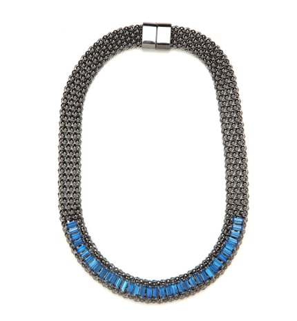 For a more contemporary twist, look to a sleeker design, like this BaubleBar Gem Mesh Chain ($36).