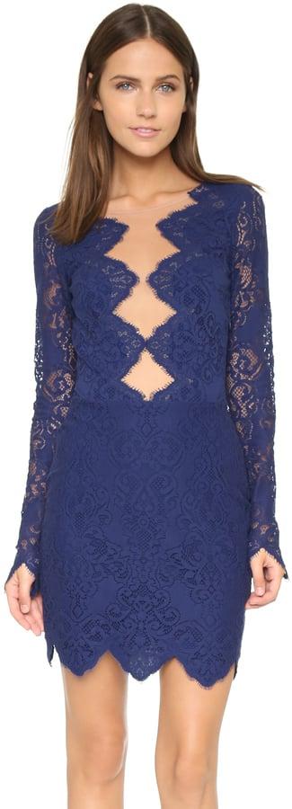 For Love & Lemons Noir Lace Mini Dress ($224)