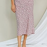 Latest Collection Bias Cut Midi Skirt ($59)