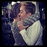 Miley Cyrus and Kelly Osbourne embraced at the AMAs. Source: Instagram user kellyosbourne