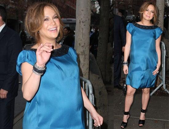 Jennifer Lopez Super Pregnant at Fashion Week