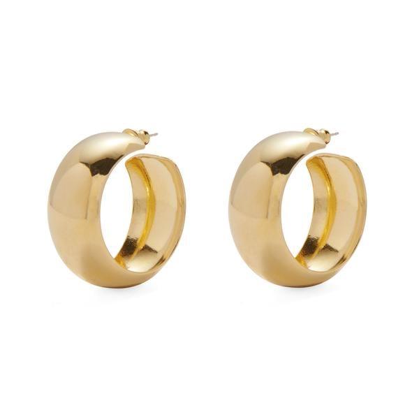 Lady Grey's Dome Hoop Earrings in Gold
