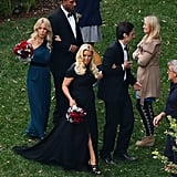 Jessica Simpson walked down the aisle with Zach Braff at pal CaCee Cobb's LA wedding to Donald Faison in December 2012.