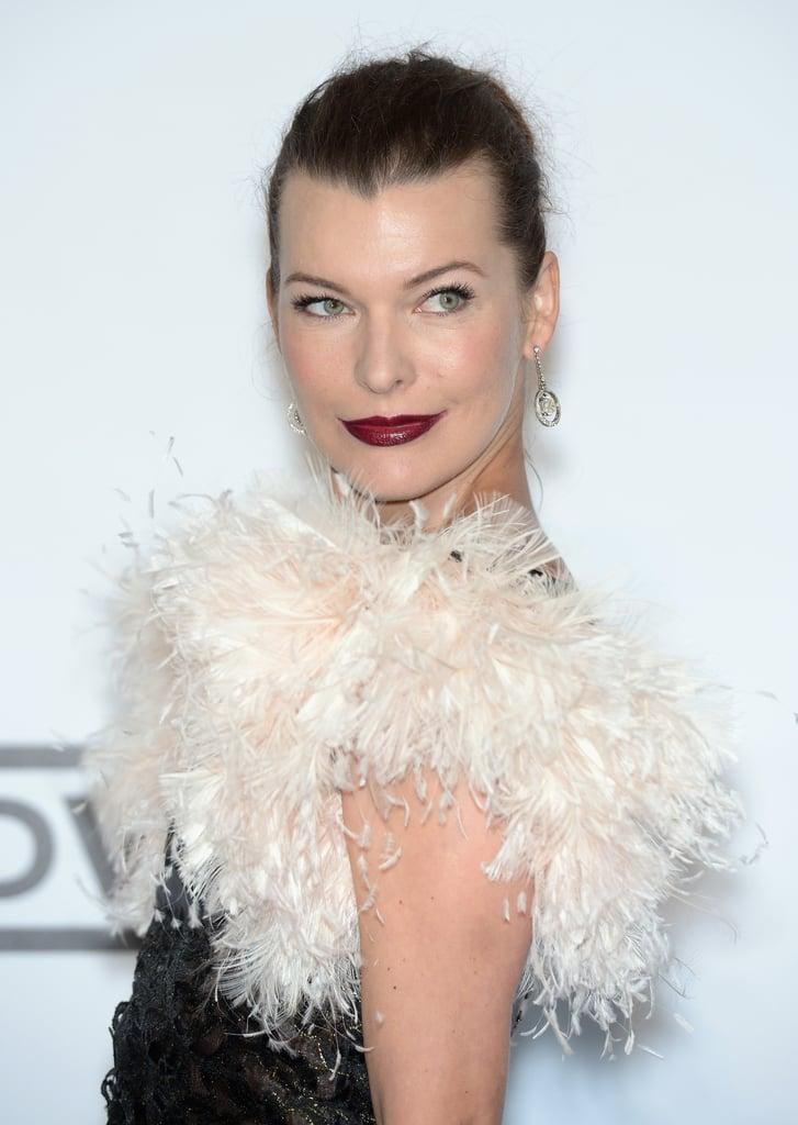 Milla Jovovich at the amfAR Cinema Against AIDS Gala