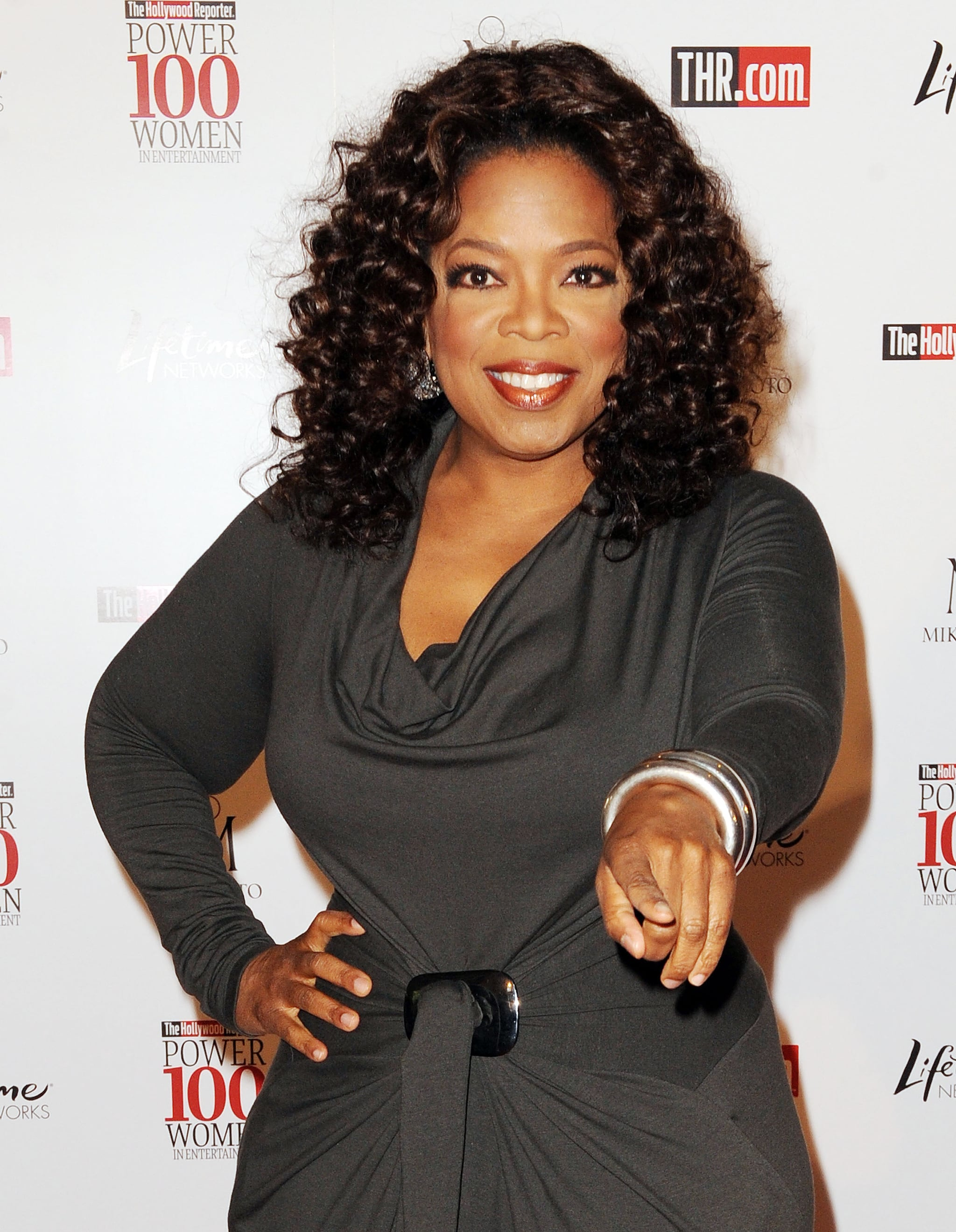 Oprah attended the Women In Entertainment Power 100 breakfast in December 2008 at the Beverly Hills Hotel.