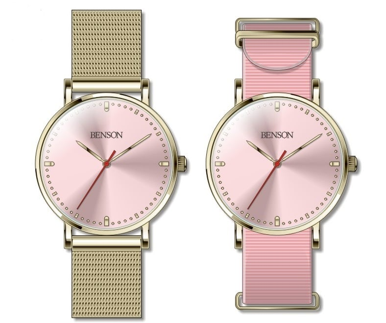 Benson Pink Cardinal Watch, Limited Edition