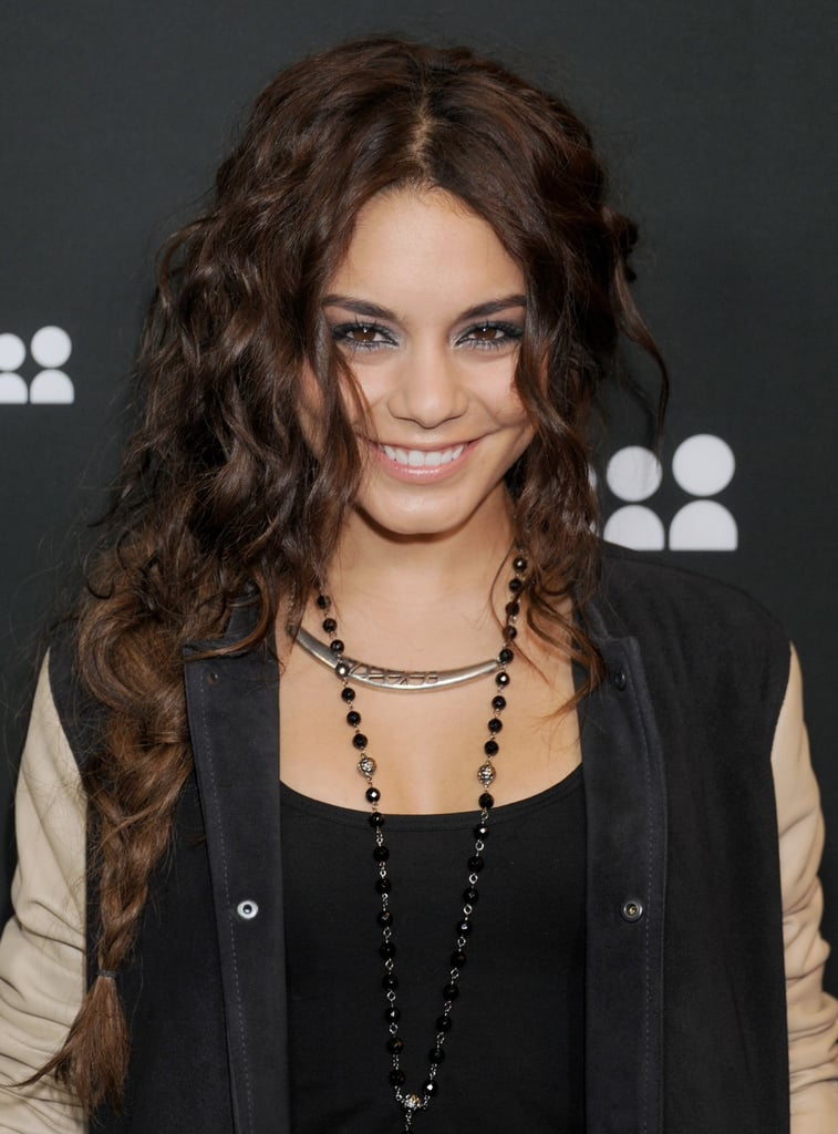 Curls look cool poking out of a braid à la Vanessa Hudgens.