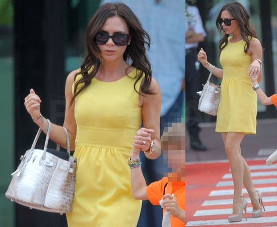 Pictures of Victoria Beckham with Long Hair