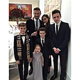 """Victoria shared a picture-perfect snap of the whole family, writing, """"I'm so proud of our beautiful family."""""""