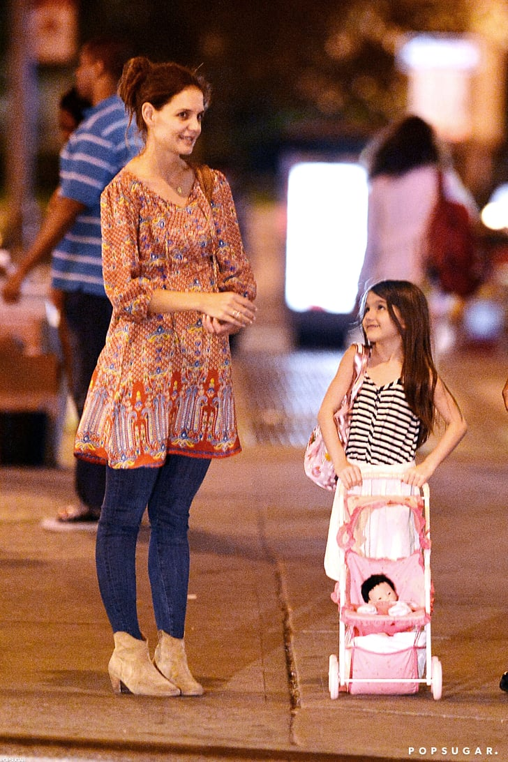 Katie Holmes and Suri Cruise waited for the light to change.