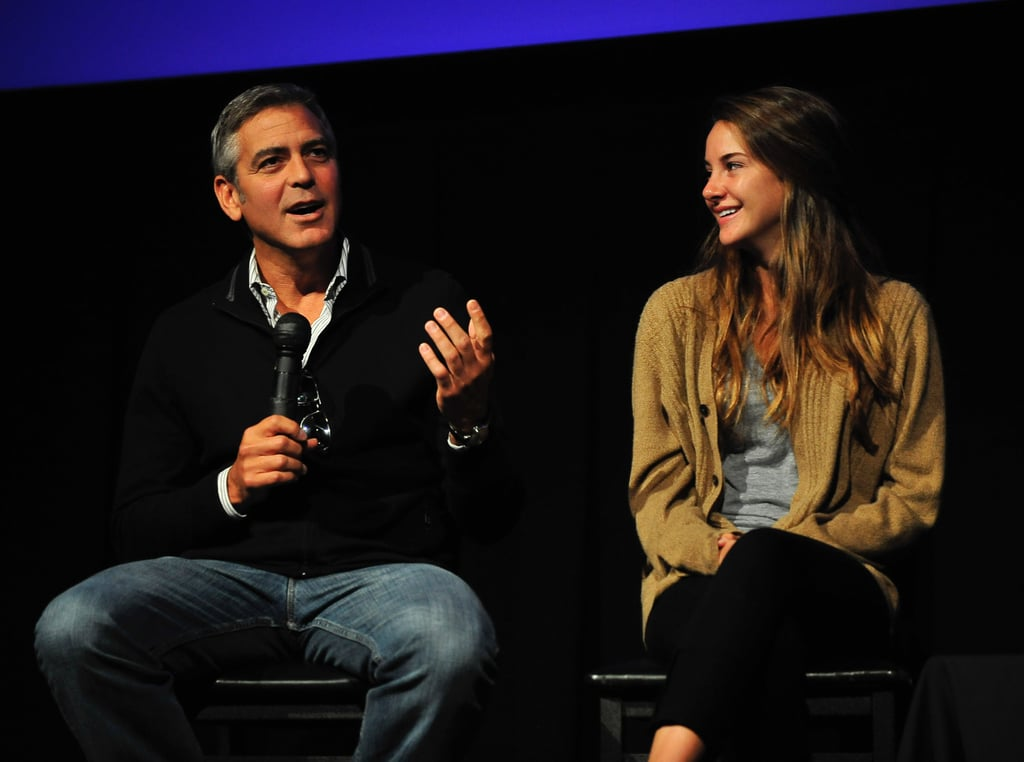 George Clooney joined his Descendants costar, Shailene Woodley, and director Alexander Payne yesterday for a Q&A session during the Telluride Film Festival. He was there as the star of the movie after a stint in Venice, where he was the force behind the lens representing The Ides of March. It's shaping up to be a busy Fall for George between the two projects —The Ides of March, out on Oct. 7, and The Descendants, which hits theaters Nov. 23. The Descendants reviews are already good, and some are even mentioning Oscar nominations for George and Alexander! Despite the multitasking George has nonetheless found time to play host to famous friends, like Cindy Crawford, Rande Gerber, and Bono at his Lake Como pad, in addition to moving on from ex Elisabetta Canalis with rumored new interest Stacy Keibler.