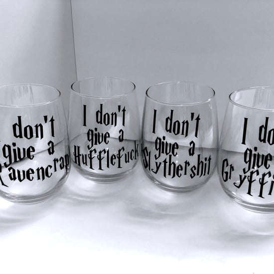Curse Word Harry Potter Wine Glasses
