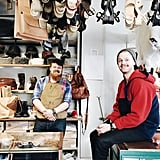 """""""Explored the neighborhood of Haga today in Gothenburg and came across the shop Haga Trätoffelfabrik — these two brothers own/run the shop and have the kindest souls. Looking forward to wearing my new bag and clogs, thanks guys!"""""""